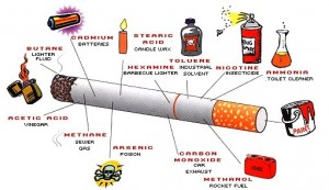 poisons found in tobacco cigarettes